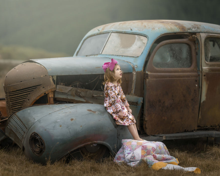 Nana Creates Whimsical Photos So Her Grandchildren Can Have Beautiful Memories