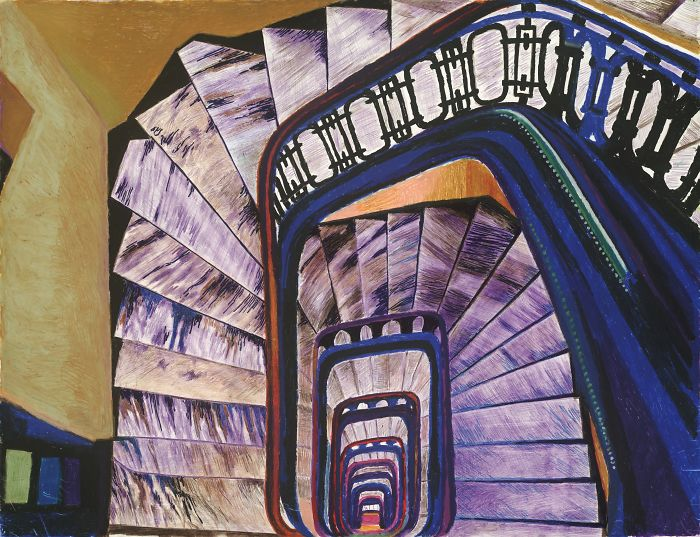 My Drawings Of The Classic Art Deco 135 Cpw Staircases In NYC