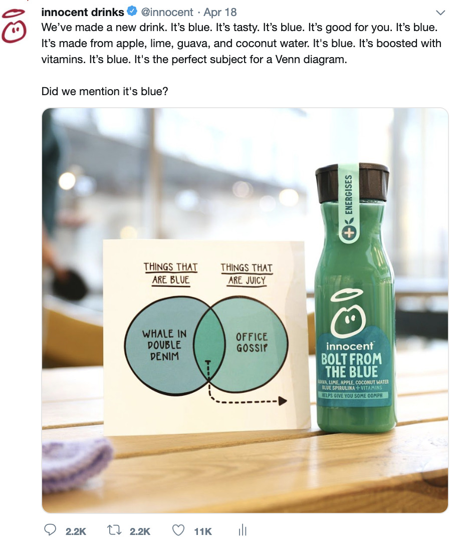 Blue Or Green? Smoothie Company Spends 4 Days Arguing With The Internet About The Colour Of Their New Juice.