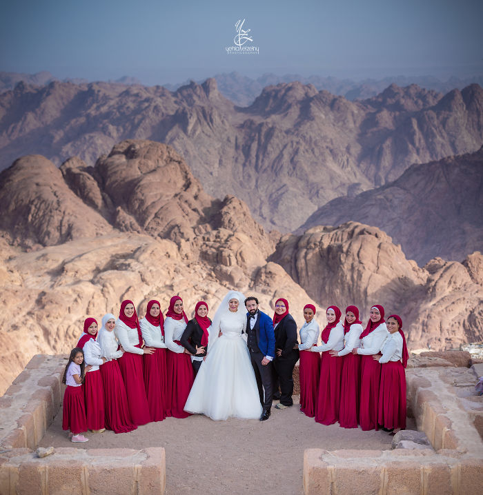 Hiked A 2200 M Mountain For The Wedding Photo Session Of My Friends