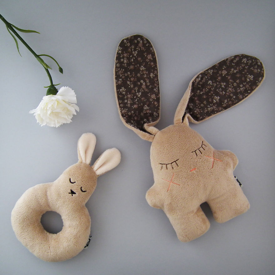 Nooz The Bunny And Matching Bunny Rattle