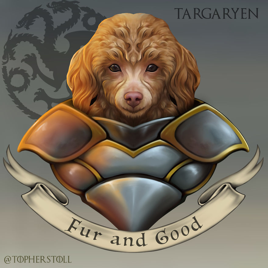 I Drew The Great Houses Of Westeros As Doggos