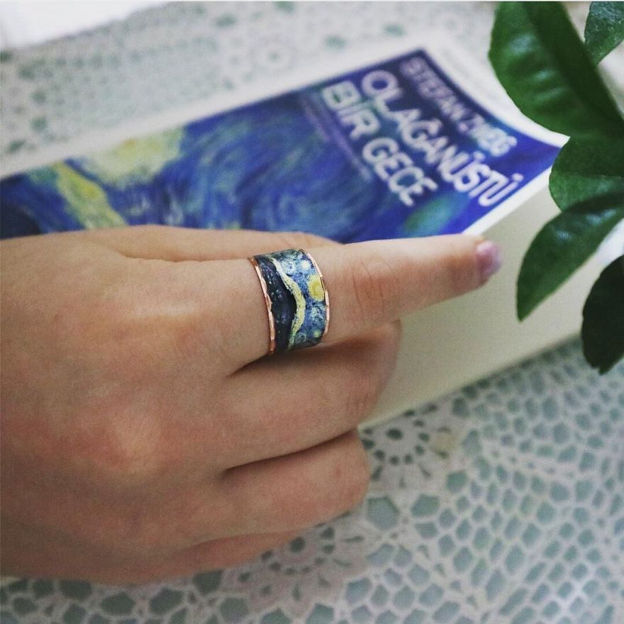 Unique Handmade Jewelry From Most Famous Paintings Of The World As Van Gogh's Starry Night & Quality Designs