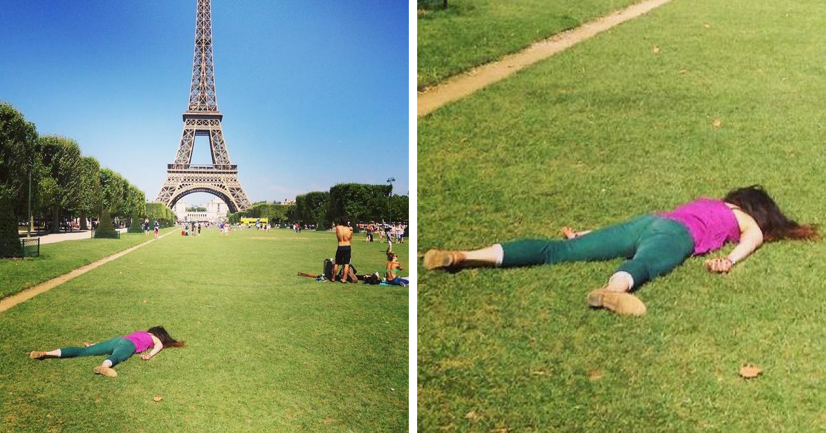 Instead Of Taking Selfies, This Woman 'Dies' At The World's Most Popular Spots