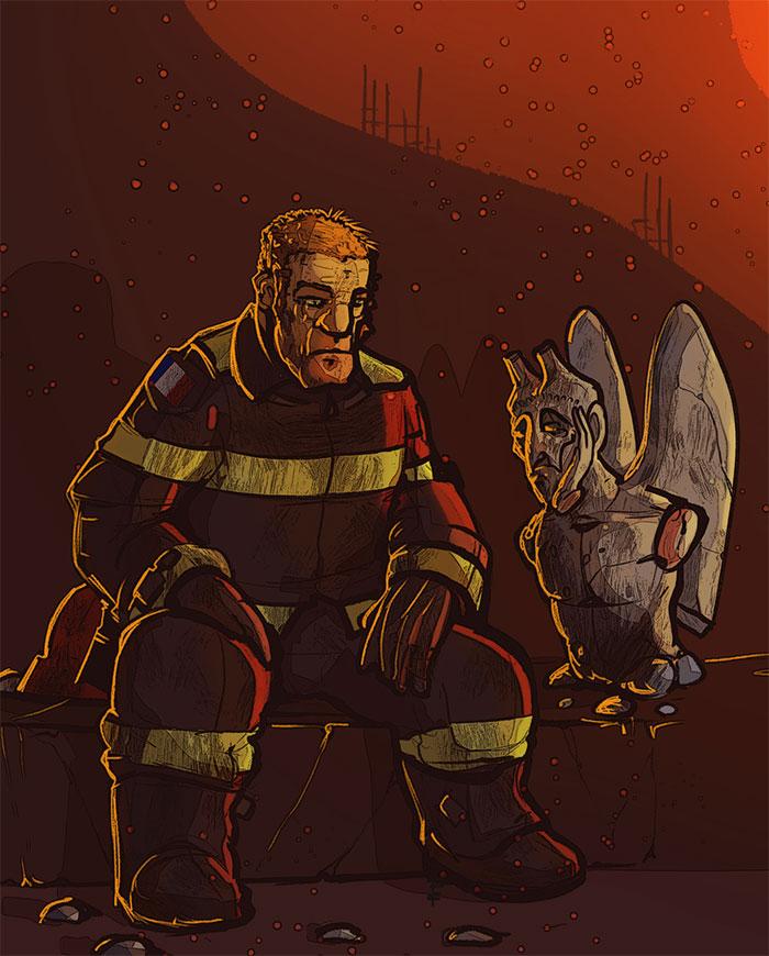 Hommage Aux Pompiers De Notre Dame