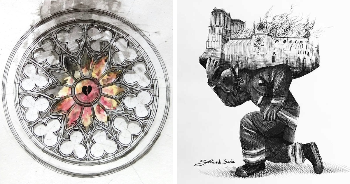 77 Artists Pay Tribute To The Notre-Dame Cathedral