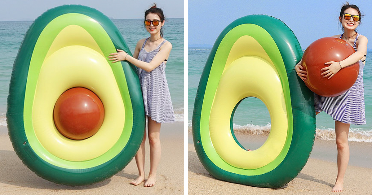 This Giant Inflatable Avocado With A Removable Pit Is Here To Change Millennials' Summer Parties