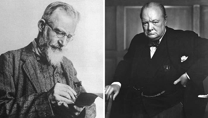 Winston Churchill to George Bernard Shaw