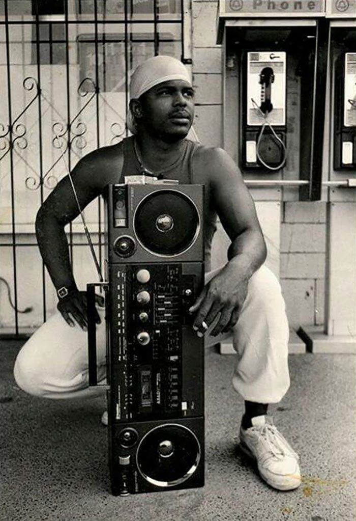 Pretty Rad Picture Of My Dad When He Was 22, In Texas, Taken In 1987. That Ghettoblaster Is Epic