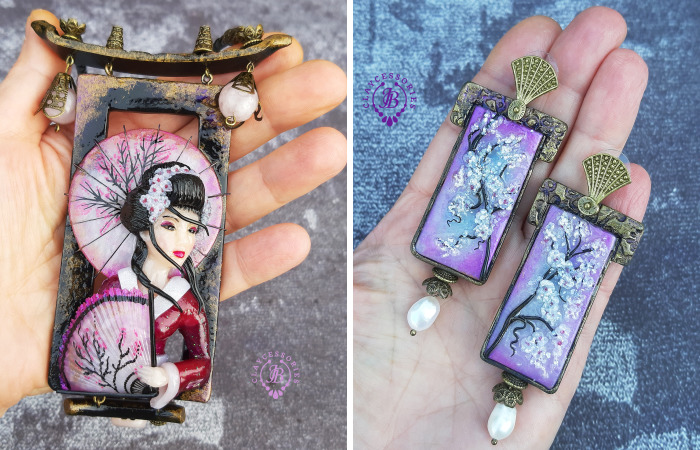 Vintage Japanese Jewelry From Polymer Clay