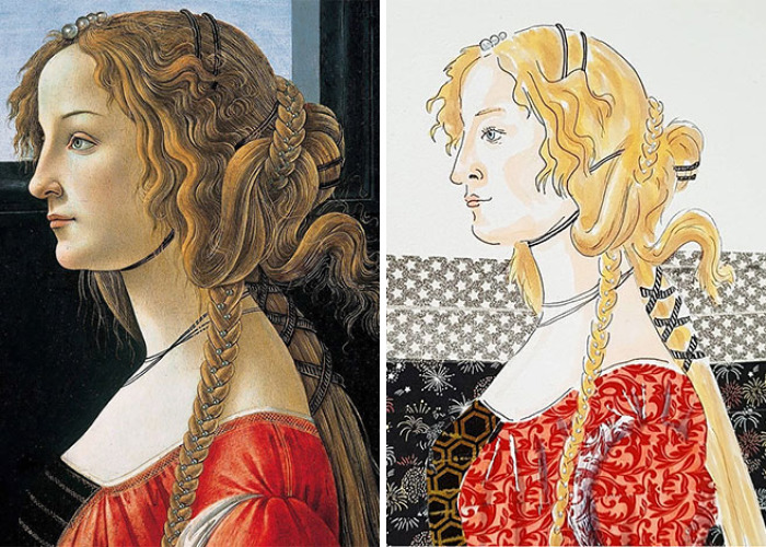 I Reimagined Classic Paintings By Known Artist Using Washi Tape