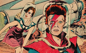 David Bowie Songs Turned Into Old Pulp Fiction Book Covers by Todd Alcott