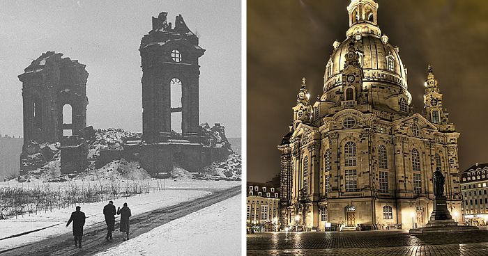 As Paris Cleans Up After The Notre Dame Fire, Here's How Dresden Rebuilt Its Church Which The Allies Bombed In WW2