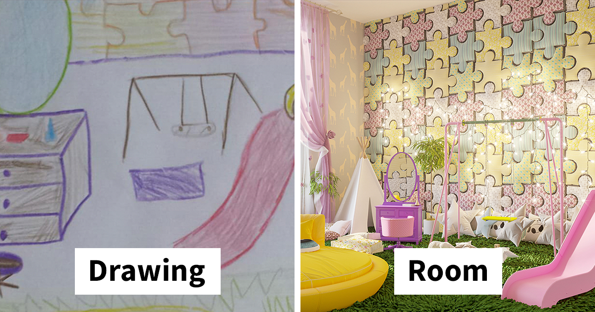 excellent kids bedroom design | 7 Kids Were Asked To Draw Bedrooms Of Their Dreams, And ...