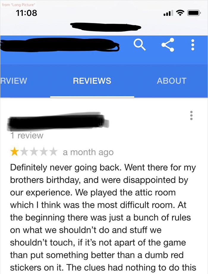 Someone Leaves 1-Star Review Of An Escape Room, The Owner
