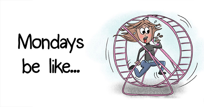 Friday And Monday From An Amateur Illustrator's Point Of View