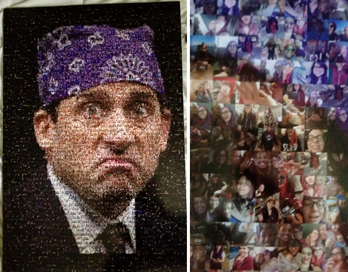 Boyfriend Gave Me This Poster Of Prison Mike Made Entirely Of Pictures Of Us