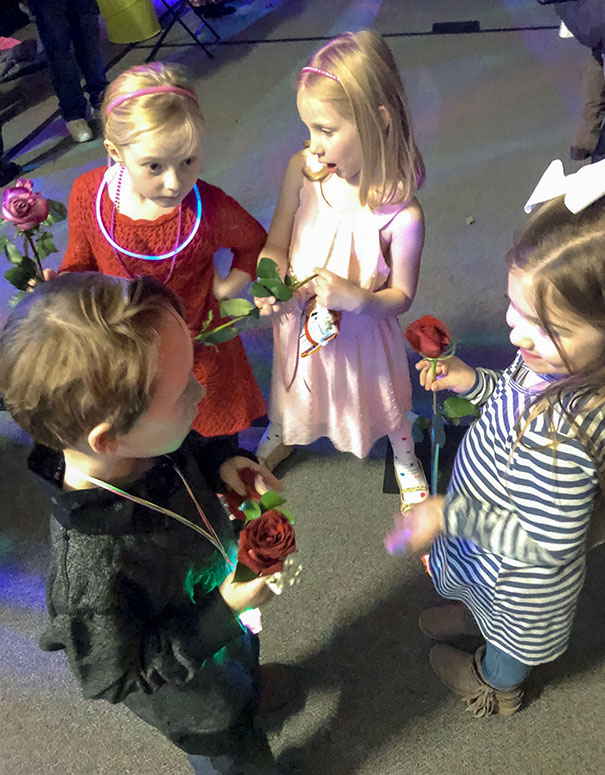 My 6-Year-Old Son Had His First School Dance Tonight. Got Caught Giving Roses To Different Girls