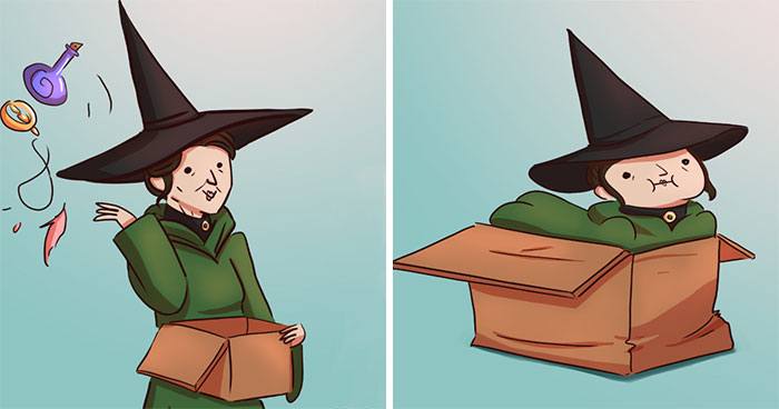 I Imagine What Happens In 'Harry Potter' Universe When No One's Watching (10 Comics)