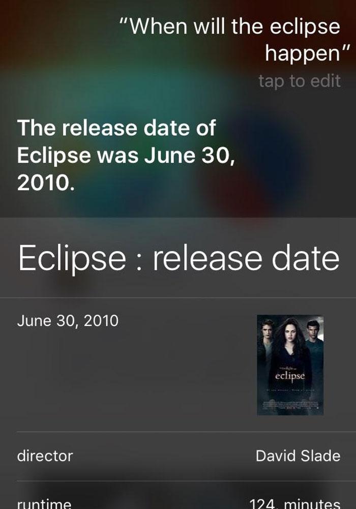 Wow, Thanks Siri