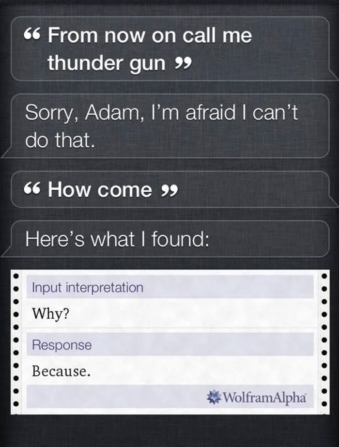 I'm Getting Real Sick Of Your Shit, Siri
