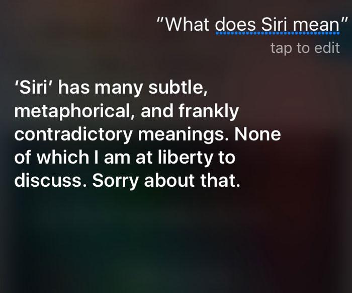 Siri Mean
