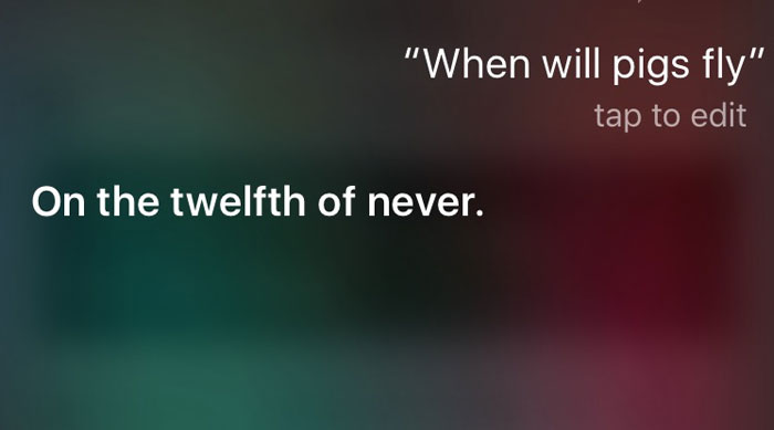 Siri Can Be Sassy