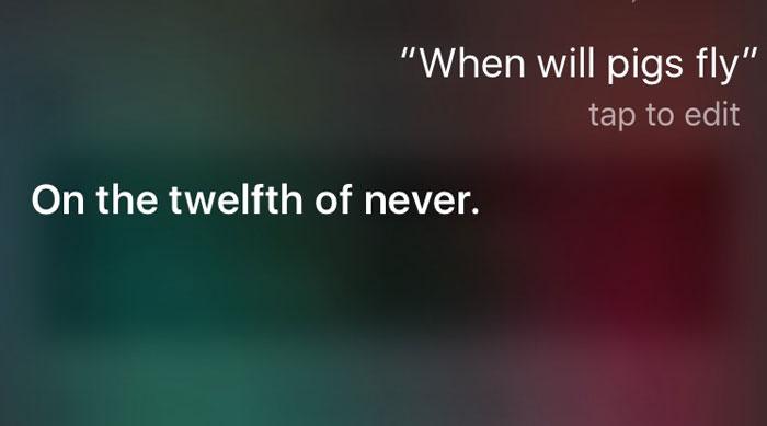 Siri Can Be Sassy