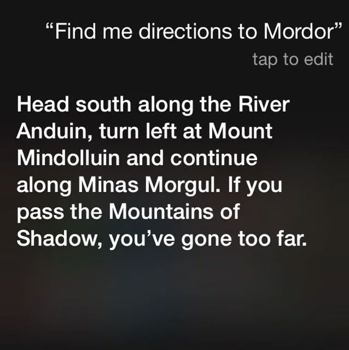 My Siri Had A Slightly Different Answer