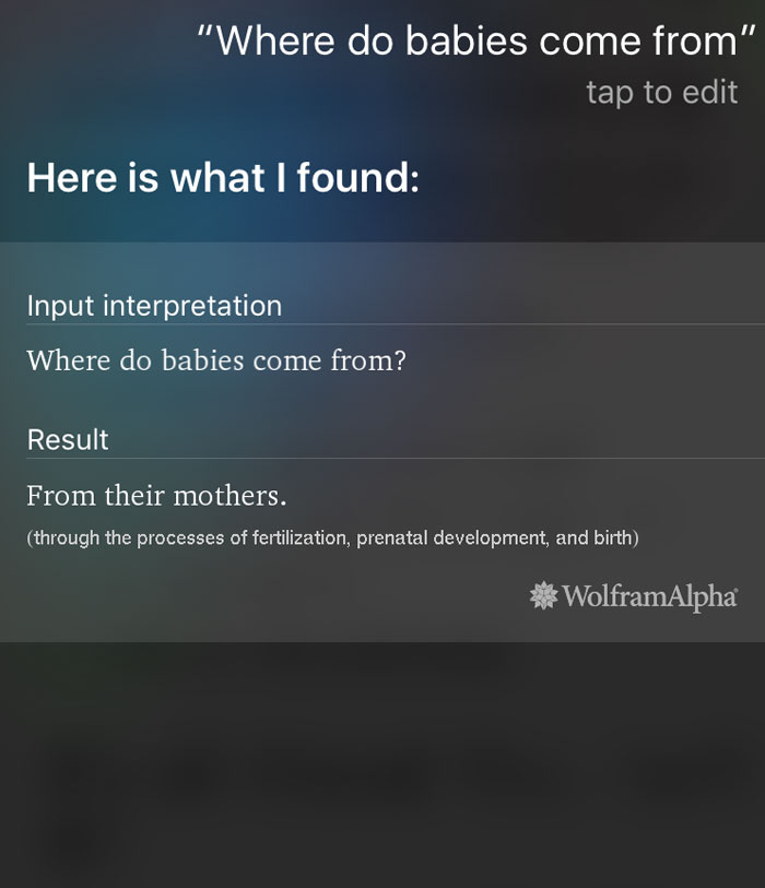 Siri Laying Down Some Information