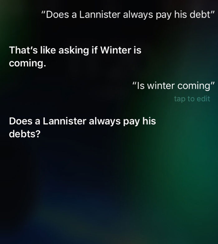 Siri Got Some Sass