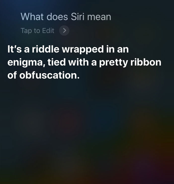 What Does Siri Mean