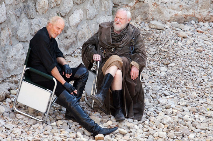 Actors Charles Dance And Julian Glover Taking A Break During The Filming Of Season 4 In Dubrovnik