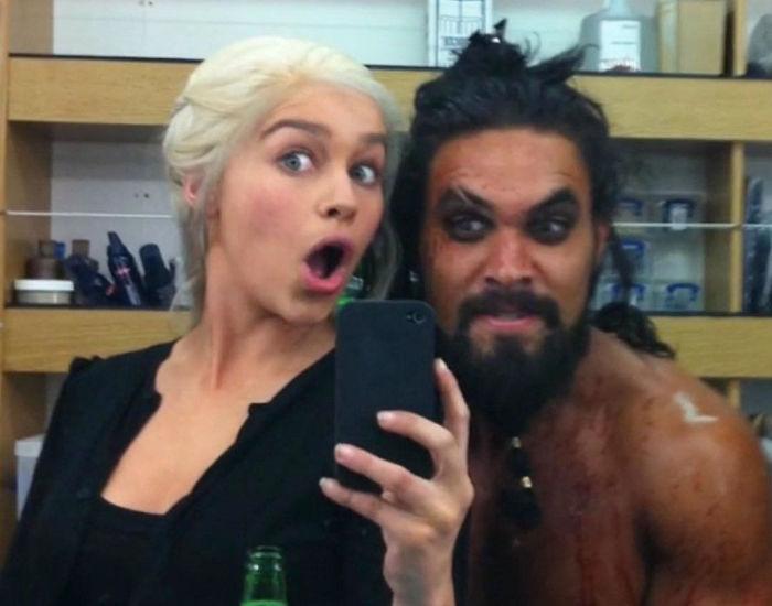 Emilia Clarke's Selfie From Season 1
