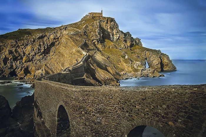 The Rock Of Gastelugache In Biscay And It Is One Of The Shooting Locations Of The Game Of Thrones