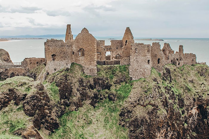 Westeros Location - Harrenhal. First Featured In Season 2. Real Life Location - Dunluce Castle, Northern Ireland
