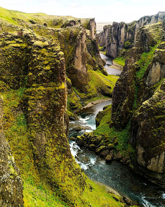 Did You Notice The Canyon Daenerys And Jon Rode The Dragons Through? I'm Pretty Sure It Was This One - Fjaðrárgljúfur In South Iceland