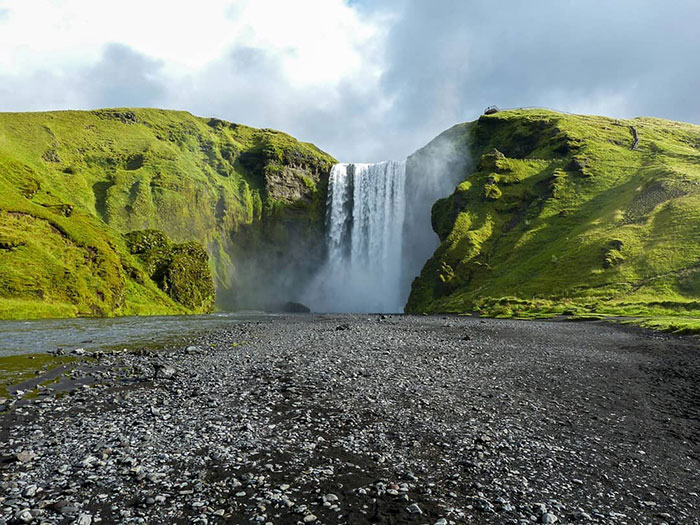 The Skogafoss Waterfall Was Shown In The First Episode Of Season 8