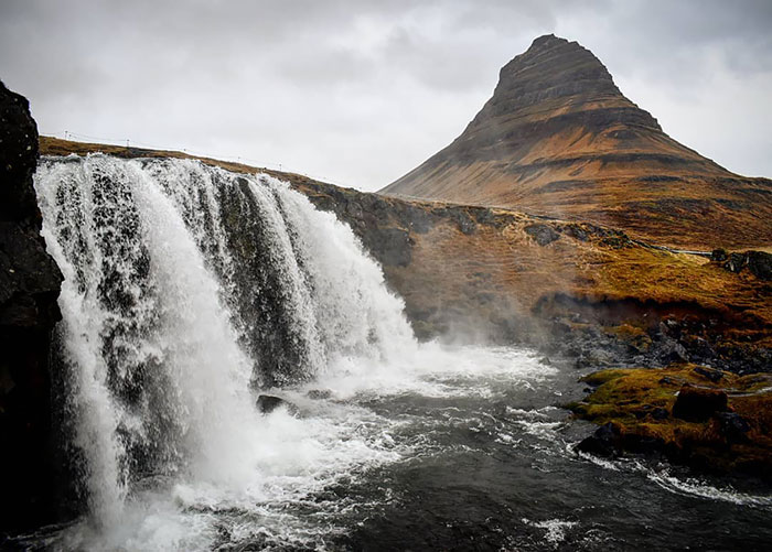 The Mantle Of The Most Photographed Mountain In Iceland Is Worn By Mt. Kirkjufell On The Snæfellsnes Peninsula In West Iceland