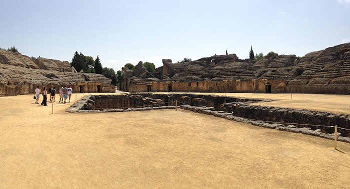 A Piece Of The Roman Empire In Spain. It's A Gladiator Arena Surrounded By Ruins. Sadly, No Dragons Here