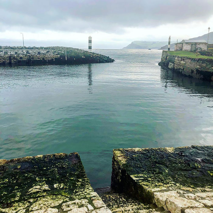 Carnlough Harbour In Northern Ireland