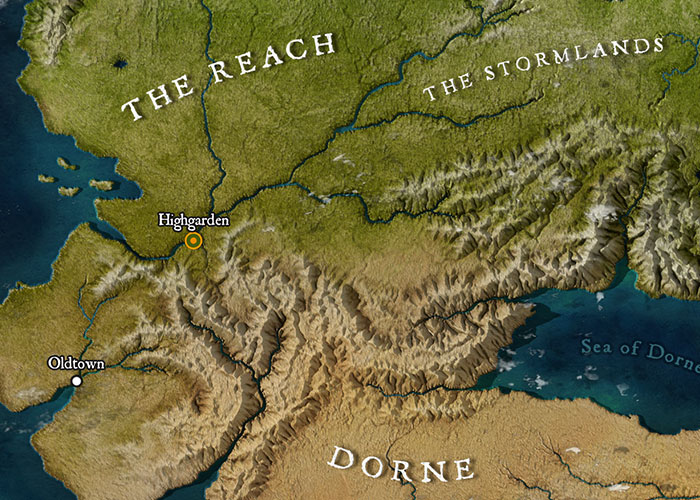 Someone Created A High-Resolution Map Of Westeros And It Looks Like on