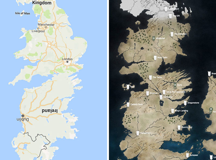 Someone Created A High-Resolution Map Of Westeros And It Looks Like A Location On Google Maps