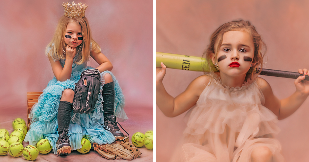 Mom's Meaningful Photos Of Girls As Both Princesses And Athletes Show That They Don't Have To Choose