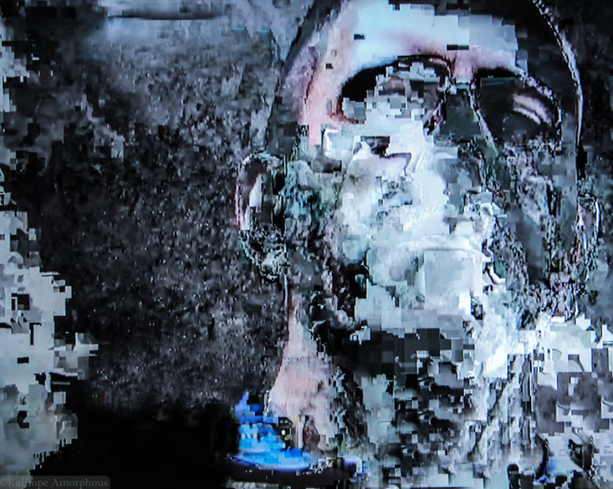 Glitch Art Created Using Interrupted Cable TV Signals
