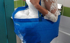 Bride-To-Be Invents IKEA Bag Hack To Pee Worry Free On Her Wedding Day