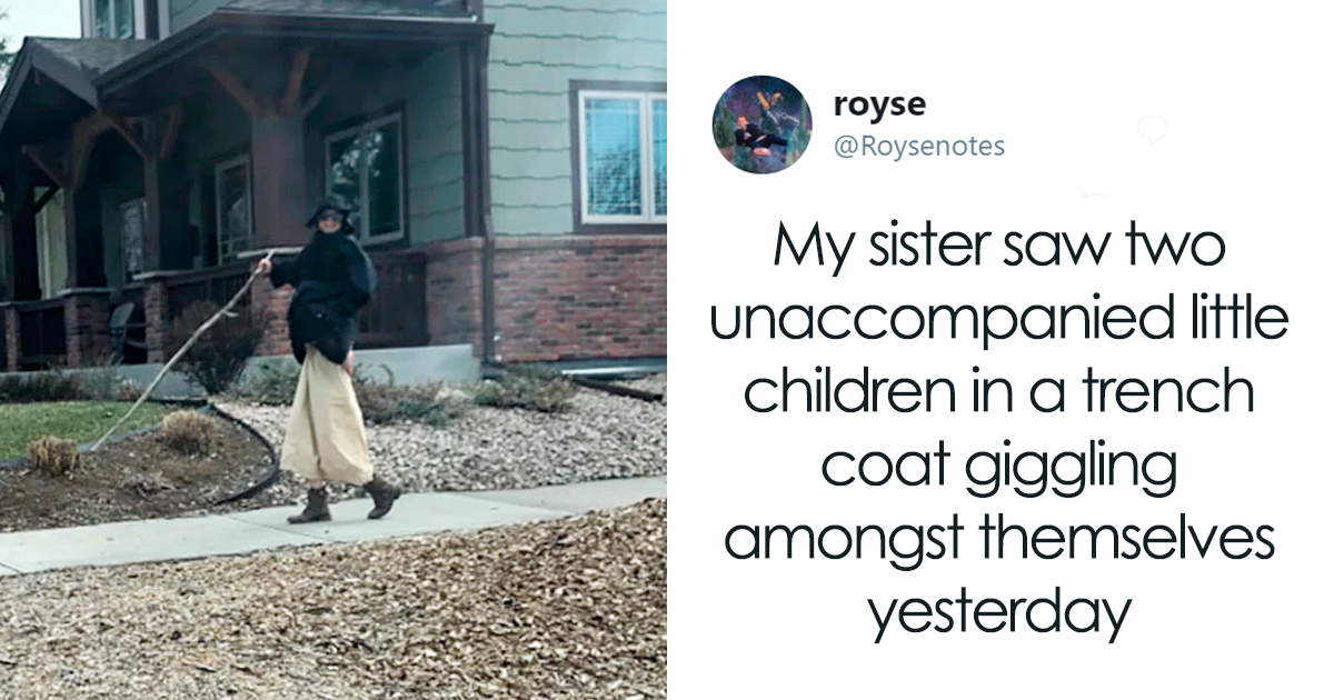 These Kids Dressed Up As A Man In A Trench Coat And Twitter Can't Handle It