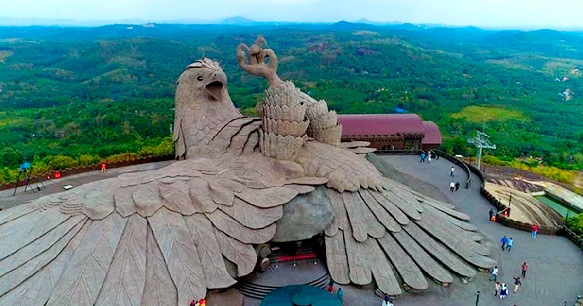 This Artist Spent 10 Years Creating This Spectacular 200ft Tall Bird Sculpture