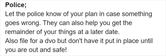 Woman Writes A Detailed Plan For Anyone Who's Trying To Escape An Abusive Partner