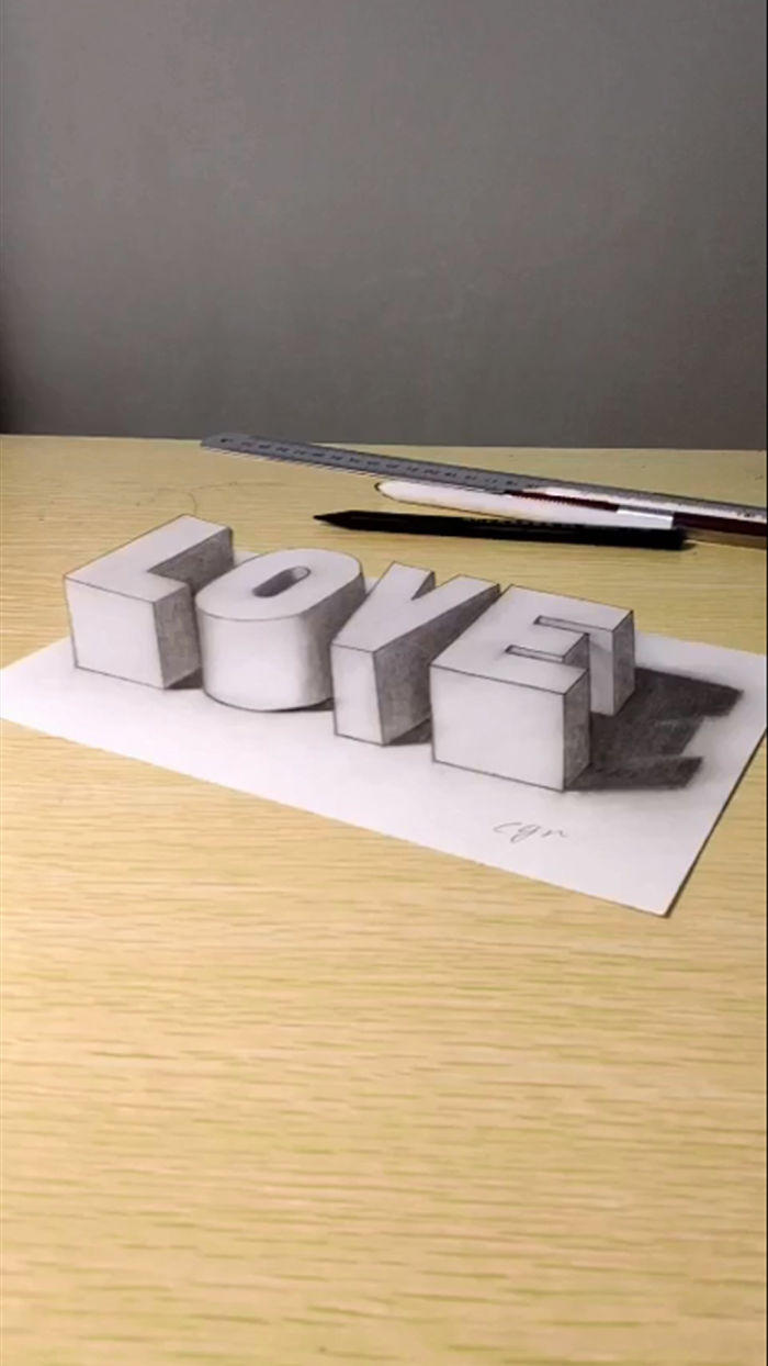 Artist Creates 3D Illusions On A Simple Sheet Of Paper